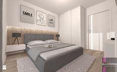 Minimalistyczna sypialnia - Mała średnia sypialnia małżeńska, styl skandynawski - zdjęcie od ARCHITETTO