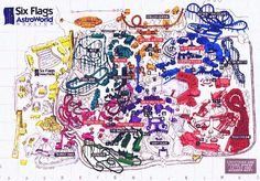 1994 Astroworld Map