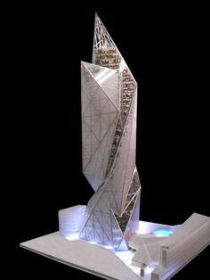 Vibrant Tour Signal La Defense, Competition Proposal For Paris - eVolo | Architecture Magazine #architecture ☮k☮: