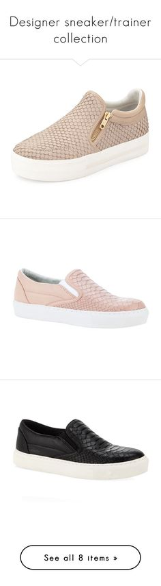 """Designer sneaker/trainer collection"" by emma-grubmueller ❤ liked on Polyvore featuring shoes, sneakers, flats, zapatos, taupe, slip on flats, slip-on sneakers, flat shoes, platform slip on sneakers and taupe flats"