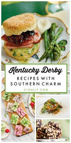 Kentucky Derby Food, Kentucky Derby Party Ideas, Bourbon Kentucky, Derby Recipe, Southern Recipes, Southern Food, Southern Dishes, Southern Homes, Country Homes