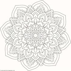 Flower Mandala Coloring Pages #516 – GetColoringPages.org