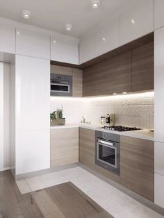 Small Kitchen layout ideas, mezzanine, one wall, galley, with table, narrow,