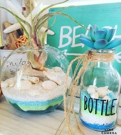 ideas for seashells Summer Crafts, Diy And Crafts, Surf Room, Summer Deco, Seashell Art, Event Themes, Candle Centerpieces, Room Ideas Bedroom, Surf Style