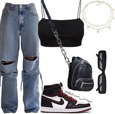 Cute Casual Outfits, Swag Outfits, Mode Outfits, Retro Outfits, Casual Jeans, Polyvore Outfits Casual, Kpop Outfits, Korean Outfits, Polyvore Fashion