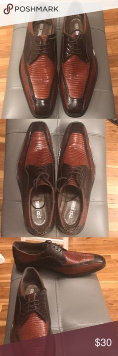 40597123743 Stacy Adams Men s Two Tone Leather Dress Shoe. Stacy Adams men s leather  dress shoes in two tone (brown).