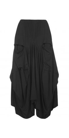 Barbara Speer Black Jersey Parachute Skirt