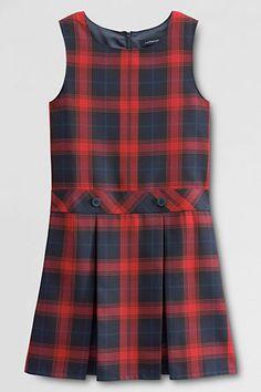 School Uniform Girls' Plaid Jumper from Lands' End
