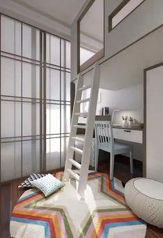 Small Room Design Bedroom, Study Room Design, Small House Interior Design, Kids Bedroom Designs, Bedroom Decor For Teen Girls, Home Room Design, Kids Room Design, Room Decor Bedroom, Cool Kids Bedrooms