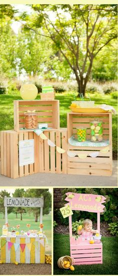 im thinking a touch of an old fashioned lemonade stand, would be cute, maybe a strawberry lemonade punch stand, serving up some strawberry shortcake and cupcakes..as an extra feature table..girls will love it..double up as a photobooth fun play as well ;)