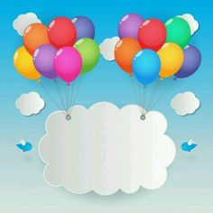 Balloons sky background vector image on VectorStock Birthday Charts, Happy Birthday Cards, Birthday Greetings, Birthday Wishes, Kids Background, Birthday Background, Birthday Backdrop, Diy For Kids, Crafts For Kids
