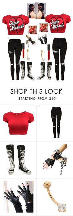 """Michael Twins vs Tyler Sisters- WWE"" by serenamarie273 ❤ liked on Polyvore featuring Topshop, Converse, Majesty Black and Burberry"