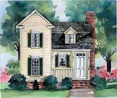 I LOVE how cute this looks from the outside. Floor Plan AFLFPW23953 - 2 Story Home Design with 3 BRs and 2 Baths