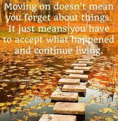 Moving on quote via www.IamPoopsie.com