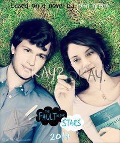"Poster de The Fault in Our Stars ""Bajo La Misma Estrella ""(2014) libro de John Green"