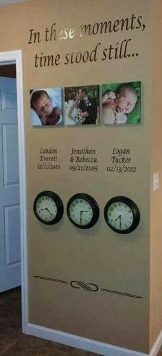 This is frickin adorable! Have to do this, or something similar, maybe with kids handprints and footprints too. LOVE <3