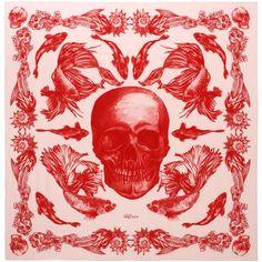 ALEXANDER MCQUEEN|Fashion Scarves|Aquatic Skull Print Scarf