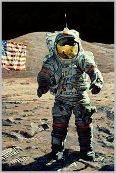 astronaught on moon