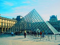 "Pyramide du Louvre Have you ever seen one of my favorite film of all time ""The Da Vinci Code""? Mobile Photos, All About Time, Paris, Film, Building, Instagram Posts, Travel, Movie, Movies"