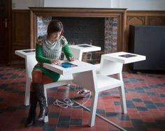 The Salsa Table is designed to serve as a platform that brings people and ideas together by integrating four iPads into the table, encouraging people to collaborate with each together.