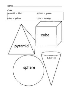 This worksheet is a great introduction to three dimensional shapes for preschool and kindergarten....