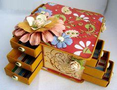 Sưu tầm hộp diêm làm thành tủ để đồ mini tiện lợi 12