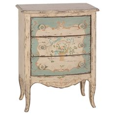 Handmade pine wood dresser with a distressed finish and cabriole legs.  Product: DresserConstruction Material: 1...