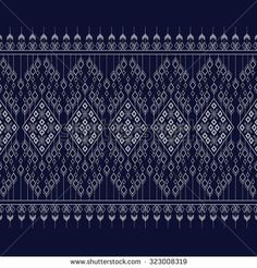 Geometric Ethnic pattern design for background or wallpaper. Ethnic Patterns, Weaving Patterns, Textile Patterns, Clothing Patterns, Lace Embroidery, Embroidery Stitches, Embroidery Patterns, Geometric Background, Background Patterns