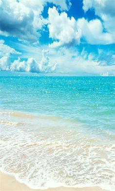 Mooie blauwe zee