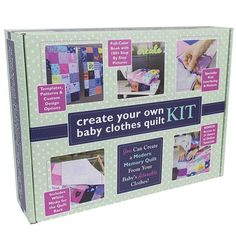 Looking for a DIY baby clothes quilt pattern? Wonder how to make a baby clothes memory quilt? Check out our DIY baby quilt tutorials, kit, books and videos! Unique Mothers Day Gifts, Unique Baby Shower Gifts, Diy Baby Clothes Quilt, Baby Quilt Tutorials, Baby Kit, Organic Baby Clothes, Christmas Gifts For Mom, Christmas Projects, Custom Quilts