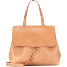 Mansur Gavriel Lady Leather Shoulder Bag (13 060 ZAR) ❤ liked on Polyvore featuring bags, handbags, shoulder bags, brown, red leather purse, brown handbags, red handbags, red leather handbag and leather shoulder bag