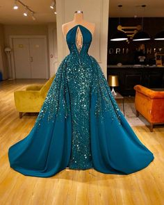 Elegant Navy Mermaid Evening Dresses with Detachable Train 2020 Sequins Keyhole Sexy Prom Gowns Beads Formal robe de soiree - pageant dresses Gala Dresses, Event Dresses, Couture Dresses Gowns, Mini Dresses, Wedding Dresses, Japonese Girl, Beaded Prom Dress, Mermaid Evening Dresses, Mermaid Gown