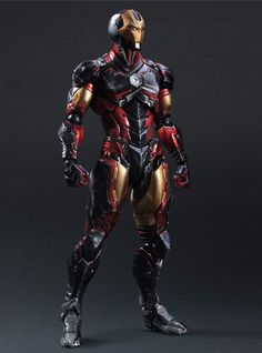 Iron Man Marvel Comics Variant Play Arts Kai Action Figure Square Enix in Stock for sale online Marvel Dc Comics, Bd Comics, Marvel Heroes, Marvel Avengers, Punisher Marvel, Comic Book Characters, Comic Book Heroes, Comic Character, Posters Batman