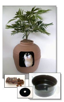 cat outdoor litter tray - Google Search