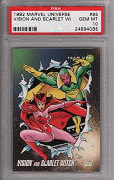 Vision and Scarlet Witch 1992 Marvel Universe Impel 85 Graded PSA 10 GEM MINT MARVEL X-MEN Collectib @ niftywarehouse.com #NiftyWarehouse #Xmen #Marvel #X-Men #Comics #Geek #ComicBooks