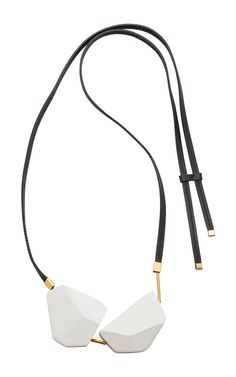 Wooden Geometric Pendant Necklace by MARNI Now Available on Moda Operandi