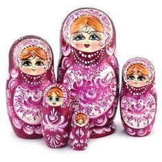 """Matryoshka """"Robin"""" Nesting Doll, Babushka Doll www.matrioskas.es"""