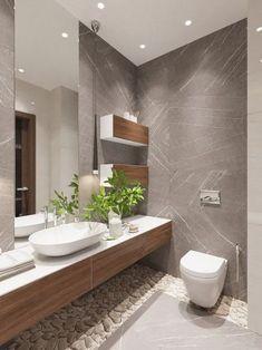 90 Pretty Unique Modern Bathroom Decoration Ideas to Give You a Peaceful Bath Time ~ IRMA Modern Bathrooms Interior, Contemporary Bathroom Designs, Bathroom Design Luxury, Modern Bathroom Decor, Modern Bathroom Design, Bathroom Styling, Interior Design Kitchen, Bathroom Furniture, Luxury Bathrooms