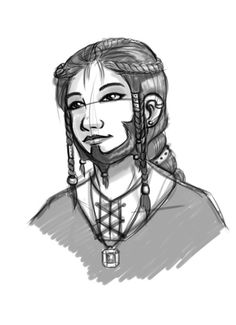 A female dwarf; couldn't find artist info -- love the braids  Found the artist: http://brittanymichel.deviantart.com/art/Dwarf-Girl-347530139
