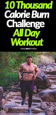 10 Thousand Calorie Burn Challenge - Is it possible to burn 10,000 calories in a day? Here's a guy who challenged himself to workout all day and track calories burned to see if he could hit that number. #hiit #epoc #afterburneffect #intervaltraining #int Diet Plans To Lose Weight Fast, Losing Weight Tips, Burn Calories, Calories Burned, Workout Plan For Men, Workout Plans, Man Workout, Workout Tips, Workout Challenge