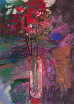 Vase of Roses. x Casey Klahn. Fine tuned in Photoshop because I wasn't satisfied with the previous photo. Pastel Drawing, Pastel Art, Pastel Flowers, Still Life Art, Sculpture, Art Lessons, Flower Art, Floral Paintings, Painting Flowers
