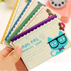 1Pcs Shopping list Cute Lazy Cat Mini Pocket Notebook Book Office Stationery Diary Planner Notepad for School Student Gift E0436