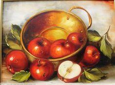 Apple Painting, Fruit Painting, Ceramic Painting, Fabric Painting, Still Life Drawing, Painting Still Life, Still Life Art, Fruit Photography, Still Life Photos