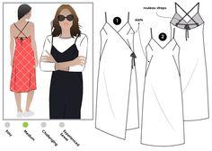 Juno Slip Dress Sewing Pattern By Style Arc