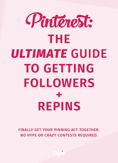 If you're looking to get your Pinterest efforts up to par THIS is the resource guide to help you do that.