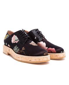 SS14 WISHLIST/DRIES VAN NOTEN | Floral Fabric Brogues
