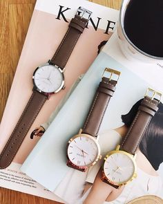 Back by popular demand! Our Original Rose Gold + Brown timepiece is such a favourite that we've launched it in both gold and silver. Made from the most buttery surplus leather in our entire collection, you'll never want to take it off 😍✨ ⠀ ⠀ Fall 2018, Daniel Wellington, Sustainable Fashion, Product Launch, Rose Gold, Popular, Watches, The Originals, Brown