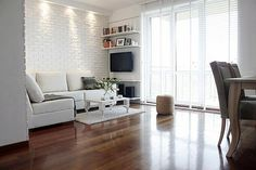 cegla na scianie w salonie - Szukaj w Google