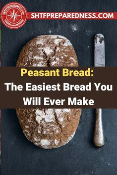 SHTF Preparedness has the best peasant bread recipe for you to try that will keep you full and satisfied. If you want an easy bread recipe that is cheap to make and delicious, this is the one to try. You don't have to be a brilliant baker to make it successfully, and you certainly don't need to fuss over it much. Check out this article for more. #bread #peasantbread #peasantbreadrecipe #breadrecipe