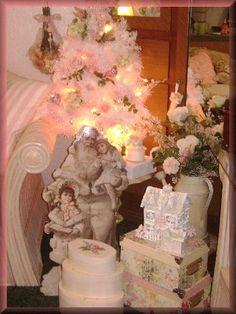 Shabby Chic Christmas Decorating Ideas   Found on decorating-ideas-galore.com